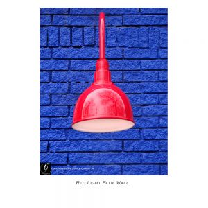 Red light Blue wall