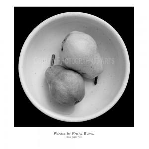 Pears-White-Bowl